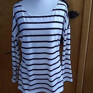 Long sleeve Womens Shirt - Striped - Sz Med